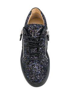 8ba33e1ef7e1f9 Shop Giuseppe Zanotti Design Gail glitter low-top sneakers. Giuseppe  Zanotti Design