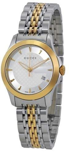 a393880ef40 Gucci Swiss G-Timeless Stainless Steel Bracelet Ladies Watch
