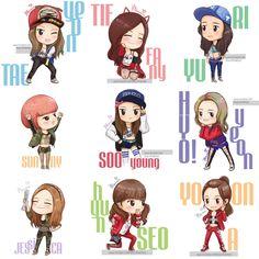 I got a boy Syafiqah Snsd, Cartoon Fan, Girl Cartoon, Sooyoung, Yoona, Korean Girl Band, Fashion Design Template, Tiffany Hwang, Skottie Young