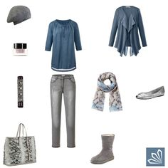 Plus Size Outfit: Snake in Blue & Grey. Mehr zum Outfit unter: http://www.3compliments.de/outfit-2015-09-18-o#outfit3