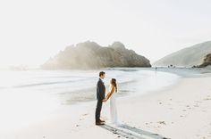 Big Sur Wedding // A sweet wedding portrait on the beach.