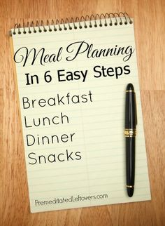 Meal Planning in 6 Easy Steps: A tutorial showing you how to make a meal plan for a month - save time and money!  ~  Premeditated Leftovers