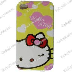 Funda Cubierta Protector Posterior Hard Case Back Iphone 4 4s Hello Kitty Yellow en Accesorios para Celulares Apple en Reynosa