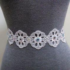 Rhinestone lace bridal belt, Bling belt, Crystal belt, Beaded belt, Wedding sash, Wedding dress belt, Wedding belt, Bridal dress belt by MagicSashAccessories on Etsy