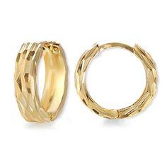 Diamond Cut Wide Hoop Earrings in Gold Over Silver #earpinearrings #sterlingsilverearpins #earringsthatgoup #pinearrings #earpinsjewelry #earpin #earpin #earspirals #earspirals #slideonearrings #climbtheearearrings #wrapearrings #nonpiercedearrings #earcuffs #personalizedbracelets #earcuffs #cuffearrings #cliponearrings #earspiralsearrings #earspiralearrings