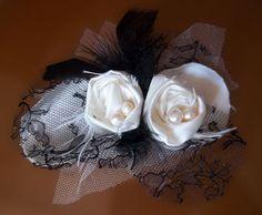 Broche para el pelo, tocado de fiesta - Fritilaria - accesorios florales - Venta y producción de broches diademas pamelas
