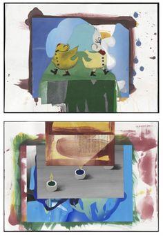 Arturo Herrera, Sunday, 2012, collage, técnica mixta sobre papel (díptico), 41.9 x 59 cm.