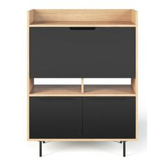 It is the pairing of oak and black finishes that gives this Jaden product its distinctive look manages to be both retro and sophisticated. Offering a dynamic range of multi-functional products with creative and unique storage.