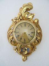 Шведская gustavian антикварная позолоченная настенные часы (westerstrand hermle junghans ЭРА)