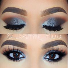 Eleganz für das Auge. Mit diesem tollen Augen Make-Up bist du gewappnet für jeden schicken Anlass! #augenmakeup #silber
