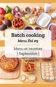 Batch cooking Summer # 9 - Batch cooking (menu and recipes) for the week of September 16 to 2019 - Healthy Travel Snacks, Healthy Snacks To Make, Healthy Meals To Cook, Healthy Cooking, Cooking Tips, Healthy Recipes, Chicken Lunch Recipes, Easy Vegetarian Lunch, Batch Cooking