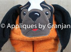 Tennessee Vols Hooded Towel with Hound Dog by AppliquesByGranjan