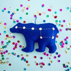 Learn to add some sparkle to your holiday crafts with this simple tutorial for embroidery with sequins.