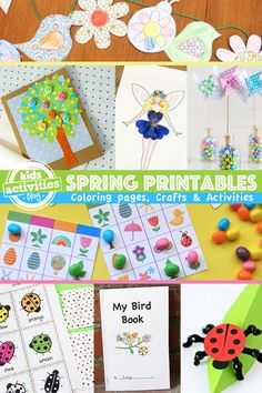 Here are some fun printable Spring crafts and activities you can print and create with!