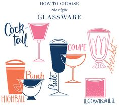 Friday Happy Hour: How To Pick Cocktail Glasses - http://www.decorwomenmag.com/wedding-ideas/friday-happy-hour-how-to-pick-cocktail-glasses.html