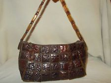 SUPER VINTAGE 40'S CROCODILE AND BAKELITE SQUARE HANDBAG