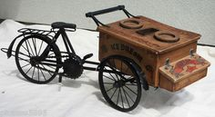 Vintage Antique Ice Cream Cart Bicycle Toy Mickey Mouse Doll Bike Vendor Wood | eBay