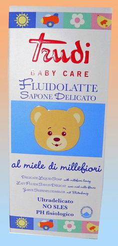 Sapone liquido delicato Fluidolatte Trudi Baby Care 250 ml