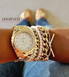 Adorned Boutique - Pretty Girl Bracelet Watch Stack, $65.00 (http://www.shopadornedonline.com/pretty-girl-watch-stack/)