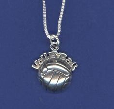 """Volleyball Necklace - """"Volleyball"""" Volleyball Necklace, Volleyball Outfits, Clothing Co, Pendant Necklace, Volleyball Clothes, Drop Necklace"""