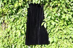 Vintage Kleider - Vintage Mode Samtrock schwarz gefüttert - ein Designerstück von trixies-zauberhafte-Welten bei DaWanda