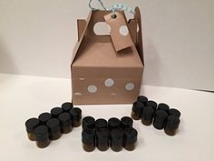 Essential Oil Amber Vials Gift Pack 24 1/4 Dram (1ml) wit...
