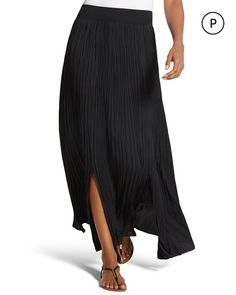 Petite Perfect Pleats Maxi Skirt