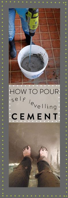 I was TERRIFIED to pour self levelling cement over my kitchen floor but after reading a ton about it online I did it. And it worked GREAT. Tutorial here.