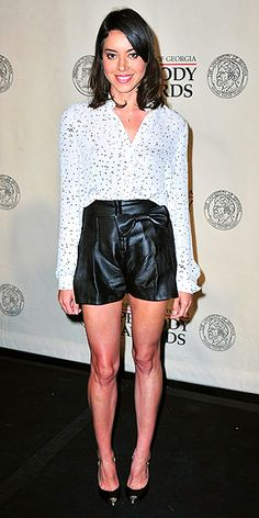 "AUBREY PLAZA'S LEATHER SHORTS  ""Where would I find the shorts you mention in last week's Red Carpet Trend Report?"" – Callie   We're so into warm-weather leather right now! Aubrey is wearing a pair of Maria Lucia Hohan ""Alberta"" hot pants that feature an adorable bow and pleats and go for $473."