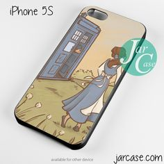 doctor who with belle Phone case for iPhone 4/4s/5/5c/5s/6/6 plus
