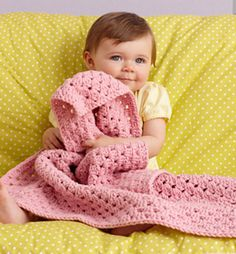 Ravelry: Granny Square Baby Throw pattern by Lion Brand Yarn