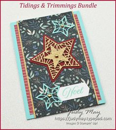Stampin Up Christmas, Christmas In July, Christmas Tag, Christmas Ideas, 21 Cards, Christmas Trimmings, Metallic Paper, Stamping Up Cards, Paper Design