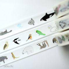 Colte Kids Japanese Washi Tape Set {Birds, Land & Sea Animals} UGUiSU