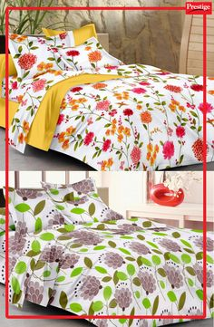 Floral bed cover sets bring spring into your bedroom.