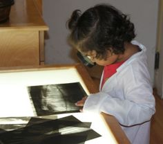 Making your own x-rays for your light table adds to a dramatic play doctor area
