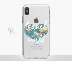 Travel Clear Phone Case Clear Case For iPhone 8 iPhone X