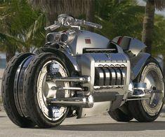 Dodge Tomahawk Motorcycle,  500 hp, 8.3-litre, V10 SRT10 engine.