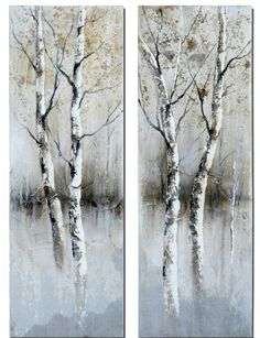 birch trees | Buy Uttermost Birch Tree Panels 16x47 Canvas Art I, II (Set of 2) on ...                                                                                                                                                                                 More
