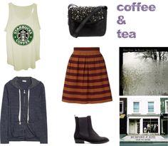 """coffee & tea"" by mangosarah on Polyvore"