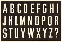 Alphabet formed by Jesse Collins, Industrial Design Partnership, London, from Lettering of Today, 1937 Typography Love, Vintage Typography, Typography Letters, Calligraphy Types, Types Of Lettering, Hand Lettering, Jewelry Ads, Type Posters, Hand Painted Signs