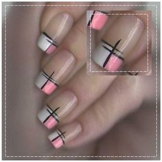 Plaid has been on trend for a fall nail associate degreed if you have got been pondering painting your nails with an impressive cloth style then you'll undoubtedly need to envision out. Pink Nail Art, Toe Nail Art, Acrylic Nails, Elegant Nails, Stylish Nails, Plaid Nail Art, Toe Nail Designs, Nails Design, French Tip Nails