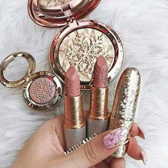 mac snow ball makeup holiday collection and Mariah Carey lipsticks Lipstick,glow,blush,gold