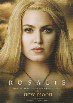 Twilight saga New Moon trading card 7 Rosalie