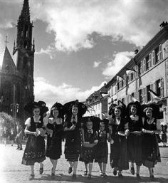 Robert Doisneau // Party at Thann, Alsace, 1945, France. ( http://www.gettyimages.co.uk/detail/news-photo/village-party-in-alsace-thann-france-news-photo/452142970