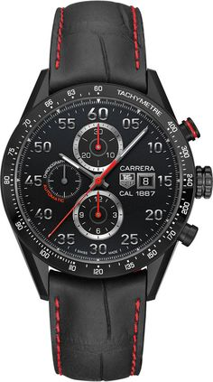 TAG Heuer Watch Carrera Racing Chronograph Calibre 1887 http://www.thesterlingsilver.com/product/hugo-boss-1512912-architecture-wristwatch-mens-leather-band-colour-chocolate/