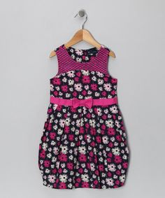 Take a look at this Navy & Fuchsia Bow Dress - Infant, Toddler & Girls by Periwinkle on #zulily today!