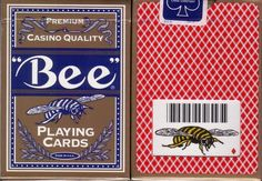 2 Ohio Bee Premium Casino Bumble Bee Poker Size Playing Cards Decks in Gold Box | eBay