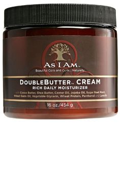 As I Am DoubleButter Cream is a rich emollient blend that promotes hair health, strength and elasticity. 4b Hair, Coily Hair, Kinky Hair, Best Natural Hair Products, Natural Haircare, 4c Hair Products, Health Products, Curly Hair Styles, Natural Hair Styles
