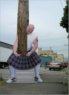 Creative Pole and Wire Advertising - for Highland Games