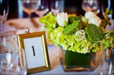 centerpieces green and cream - Google Search